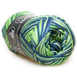 Mayflower Cotton 8/4 print farve 1506 grøn/blå