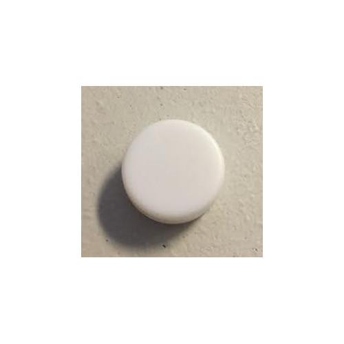 Rasleboks hvid, rund 9 x 18 mm