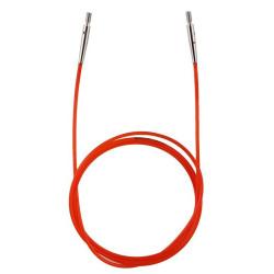 KnitPro rød Kabel/wire til udskiftelig rundpinde, 100 cm (med dine pinde)