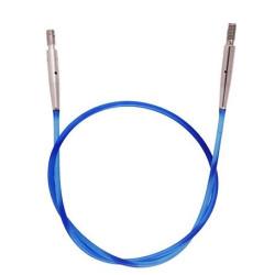 KnitPro blå Kabel/wire til udskiftelig rundpinde, 50 cm (med dine pinde)