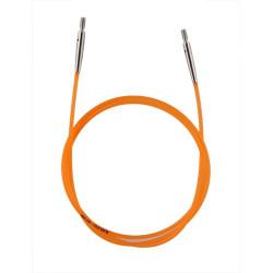 KnitPro orange Kabel/wire til udskiftelig rundpinde, 80 cm (med dine pinde)