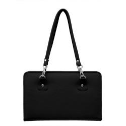 Knitpro taske i sort, faux læder, 27 x 37 cm, uden indhold