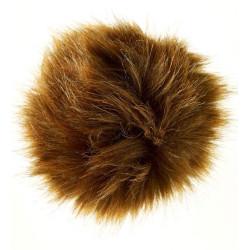 Pompon imiteret rød ræv 6 - 8 cm