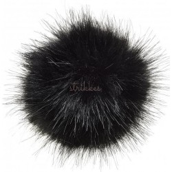 Pompon imiteret mink sort 6 - 8 cm