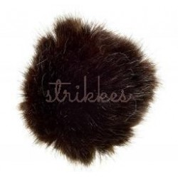 Pompon imiteret mink mørkegrå 6 - 8 cm