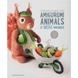 Amigurumi animals at work, 14 søde dyr - 14 - 35 cm, engelsk
