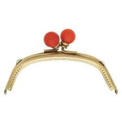 Pung bøjle med røde knopper, Alegra 12,5 x 5,5 cm