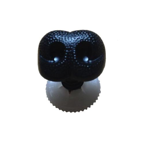 Bamsenæse med sikkerhedslås, sort, 8mm, 1 stk