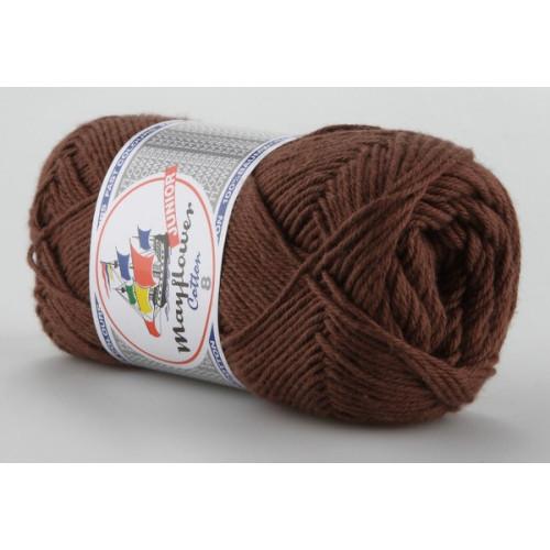 Mayflower Cotton 8 farve 1432 chokoladebrun