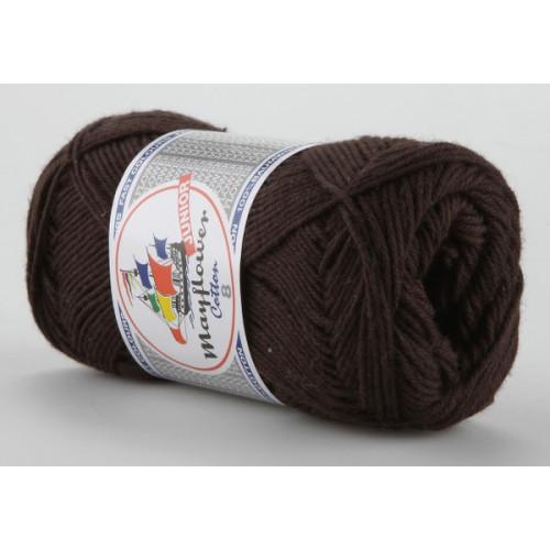 Mayflower Cotton 8 farve 1436 mørkebrun
