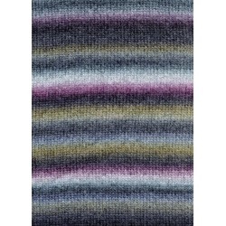 Lang Yarns Novena color, farve 65, lilla, grå og grøn 50g