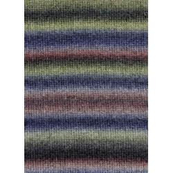 UDGÅET Lang Yarns Novena color, farve 64, blå, grå og røde, 50g