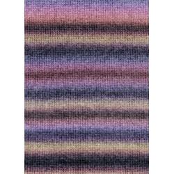 UDGÅET Lang Yarns Novena color, farve 45, lilla og lyserød, 50g