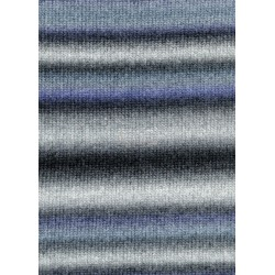 Lang Yarns Novena color, farve 24, blå og grå, 50g