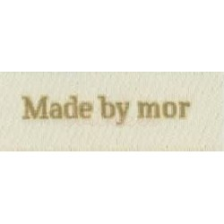 "Label ""made by mor"" 5 x 2 cm i beige"