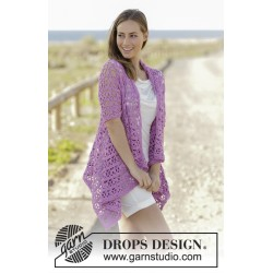 Image of   Lilac dream by drops design s-xxxl drops cotton light garn cardigan
