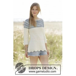 Spring Rain by DROPS Design S-XXXL DROPS FABEL