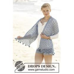 Pebble Beach by DROPS Design Bredde: 32 cm. Længde: ca 140 cm DROPS BIG MERINO
