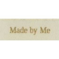 "Label ""made by me"" 5 x 2 cm i beige"