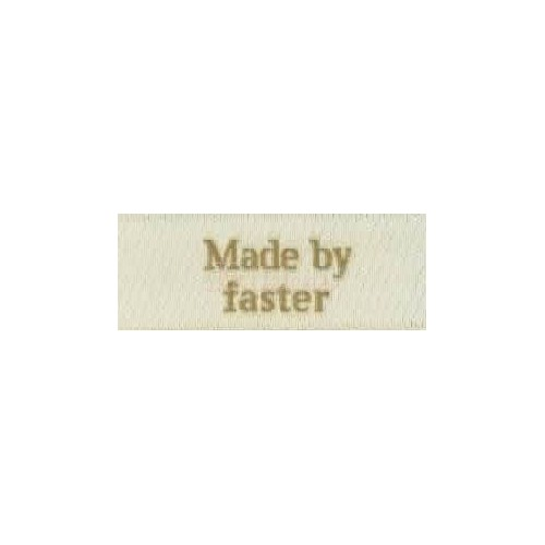 "Label ""made by faster"" 5 x 2 cm i beige"
