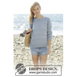 Bente by drops design s-xxxl drops alpaca/drops kid-silk garn bluse