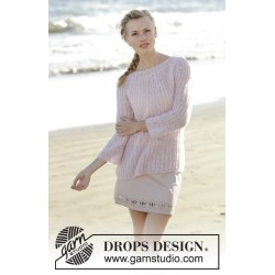 Emmelie by DROPS Design S-XXXL DROPS BRUSHED ALPACA SILK