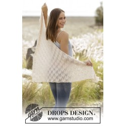 Good Luck by DROPS Design Bredde øverst ca 144 cm. Højde midt på ca 72 cm. DROPS BABYALPACA SILK