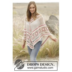 Image of   A wistful dream by drops design s-xxxl drops belle garn poncho