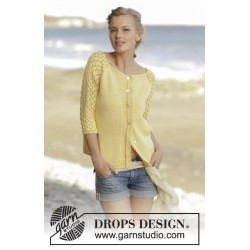 Image of   Honey blossom cardigan by drops design s-xxxl drops merino extra