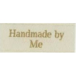 "Label ""handmade by me"" 5 x 2 cm i beige"
