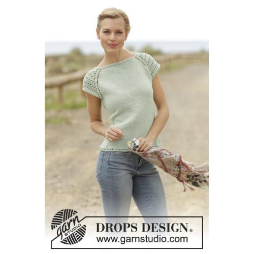 Petronella Top by DROPS Design S-XXXL DROPS MUSKAT