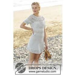 Grace in Lace by DROPS Design S-XXXL DROPS SAFRAN