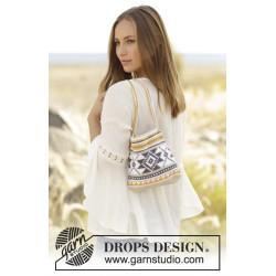 Folk Dance by DROPS Design Højde: 21 cm. Bredde: 20 cm. DROPS COTTON LIGHT