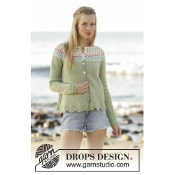 Spring Valley Cardigan by DROPS Design S-XXXL DROPS FLORA