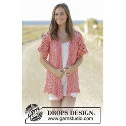 Image of   Peach sorbet by drops design s-xxxl drops paris garn strikkekits