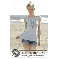 Crashing Waves by DROPS Design S-XXXL DROPS COTTON LIGHT
