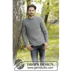 Beaver Ridge by DROPS Design S-XXXL DROPS KARISMA/DROPS KID-SILK