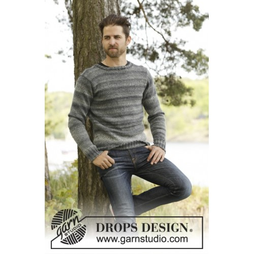 Moorland Jumper by DROPS Design S-XXXL DROPS FABEL/DROPS DELIGHT