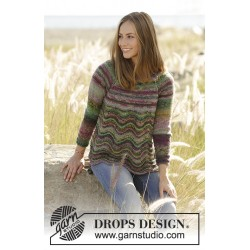 Spring forest by drops design s-xxxl drops delight garn bluse
