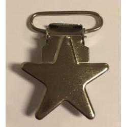 Stjerne seleclips i metal. sølv - 1 stk
