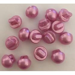 Champignon formede plastikknapper. Pose med 15 rosa knapper. 10mm