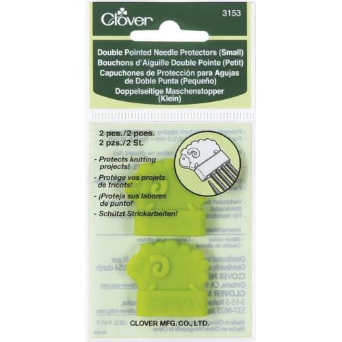 Clover pindebeskytter i gummi, lille, 2 stk, til pinde 2,0 - 3,75mm