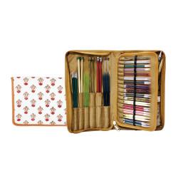 Knitpro Eternity, stof pung til pinde og kabler ca. 35cm x 29cm (uden indhold)