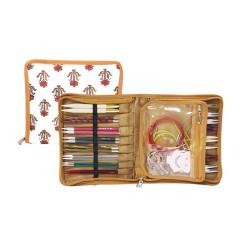 Knitpro Eternity, stof pung til udskifteligepinde og kabler ca. 29cm x 16,5cm (uden indhold)