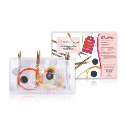 KnitPro Symfonie Wood start sæt, udskiftelige rundpinde med farvede wirer