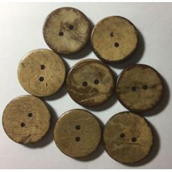 Kokosnød knap. Pose med 8 knapper, 20mm