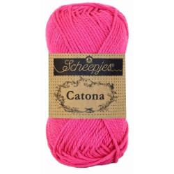 Scheepjes Catona 50g, farve 114 Shocking Pink