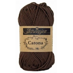 Scheepjes Catona 50g, farve 162 Black Coffee