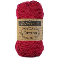 Scheepjes Catona 50g, farve 517 Ruby