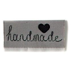 "Label ""handmade"". 4 x 2 cm grå"